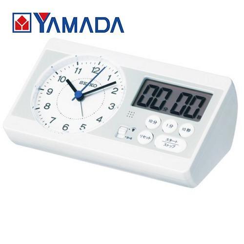 セイコークロック 推奨 KR893W 知育時計 高級品 目覚し時計 スイープセコンド ストップウォッチ カウントダウンタイマー ライト付