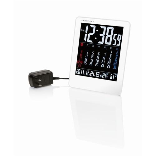 ADESSOS カラーカレンダー電波時計 驚きの価格が実現 NA−929 1 初回限定 ホワイト