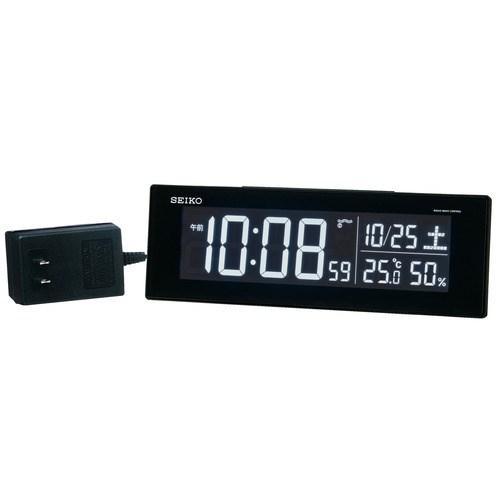 売り込み セイコークロック DL305K 電波目覚まし時計 SEIKO ☆正規品新品未使用品 黒塗装