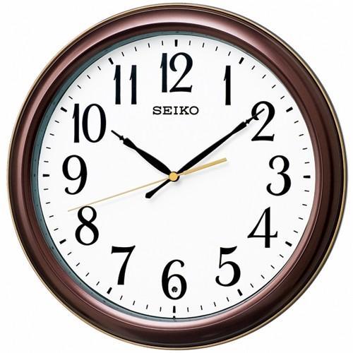 通常便なら送料無料 好評受付中 セイコークロック KX234B 電波掛時計 数字大きめ