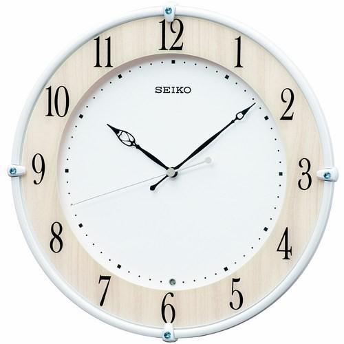 セイコークロック KX242B 5☆大好評 電波掛時計 SEIKO メープル調木目 価格