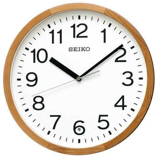 人気ブランド セイコー 電波掛け時計 KX249B 天然色木地 即納最大半額