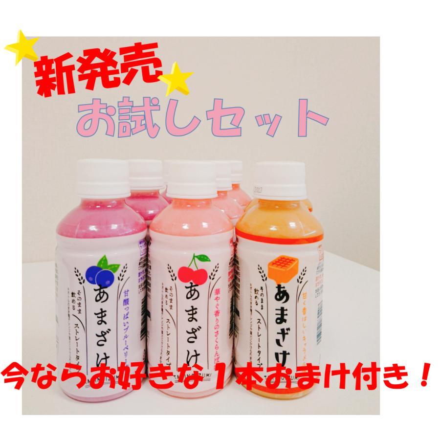 フルーツ甘酒 新商品お試しセット 3種×3本入り  200ml ブルーベリー さくらんぼ キャラメル 今なら1本おまけ付き  yamadashuzoushokuhin