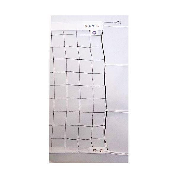 KTネット 上下テープ付き 6人制バレーネット 日本製 〔サイズ:巾100cm×長さ9.5×網目10cm〕 KT4130