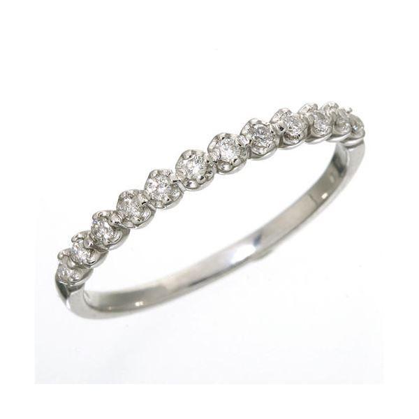 【着後レビューで 送料無料】 K18 ダイヤハーフエタニティリング ホワイトゴールド 7号 指輪, Negozietto 472d7d11