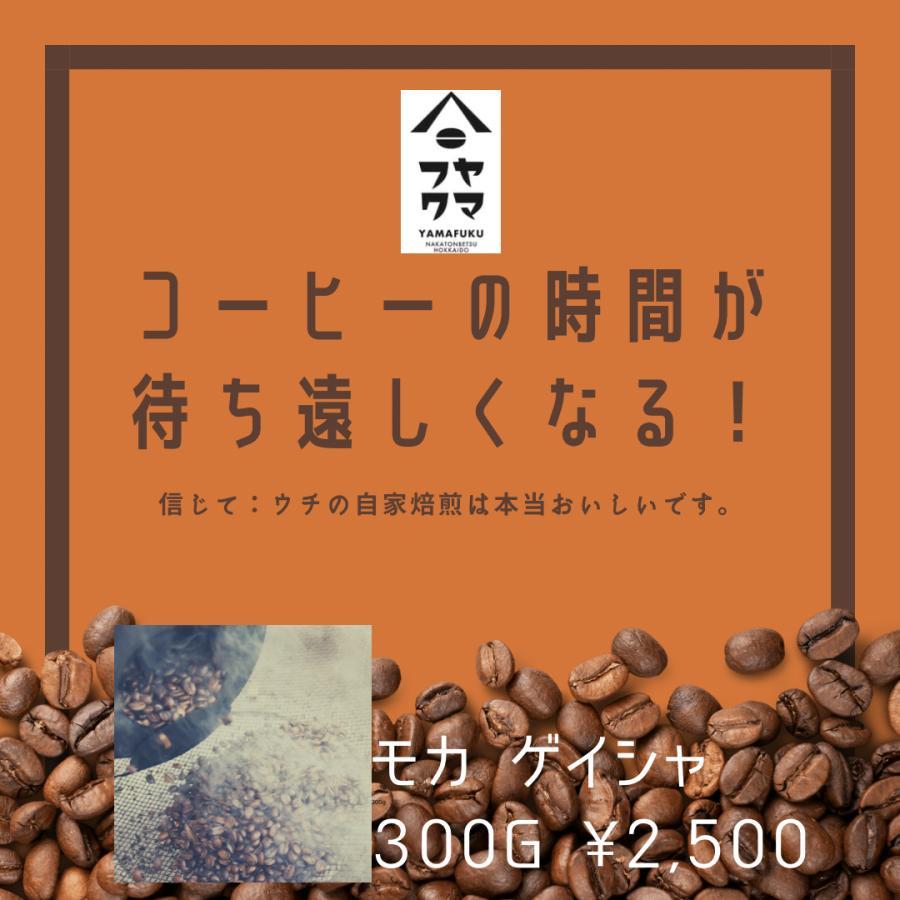 送料無料 エチオピア モカ ゲイシャ 中浅煎り 300g 自家焙煎珈琲|yamafuku-coffee