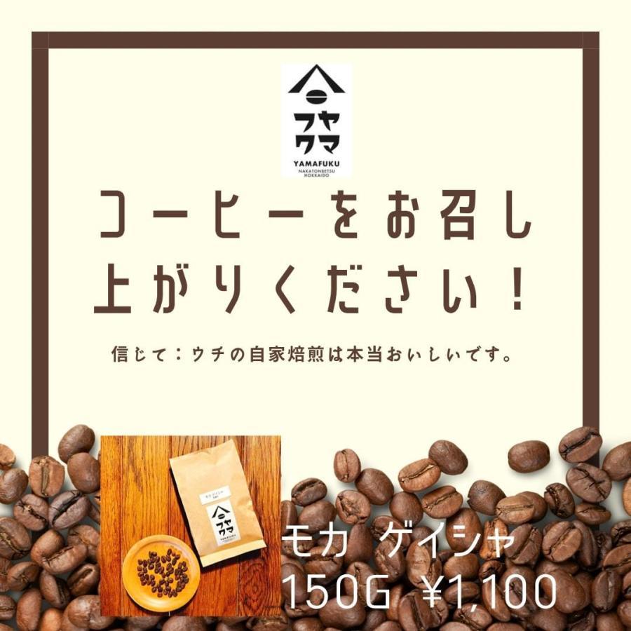 エチオピア モカ ゲイシャ 中浅煎り 150g 自家焙煎珈琲|yamafuku-coffee