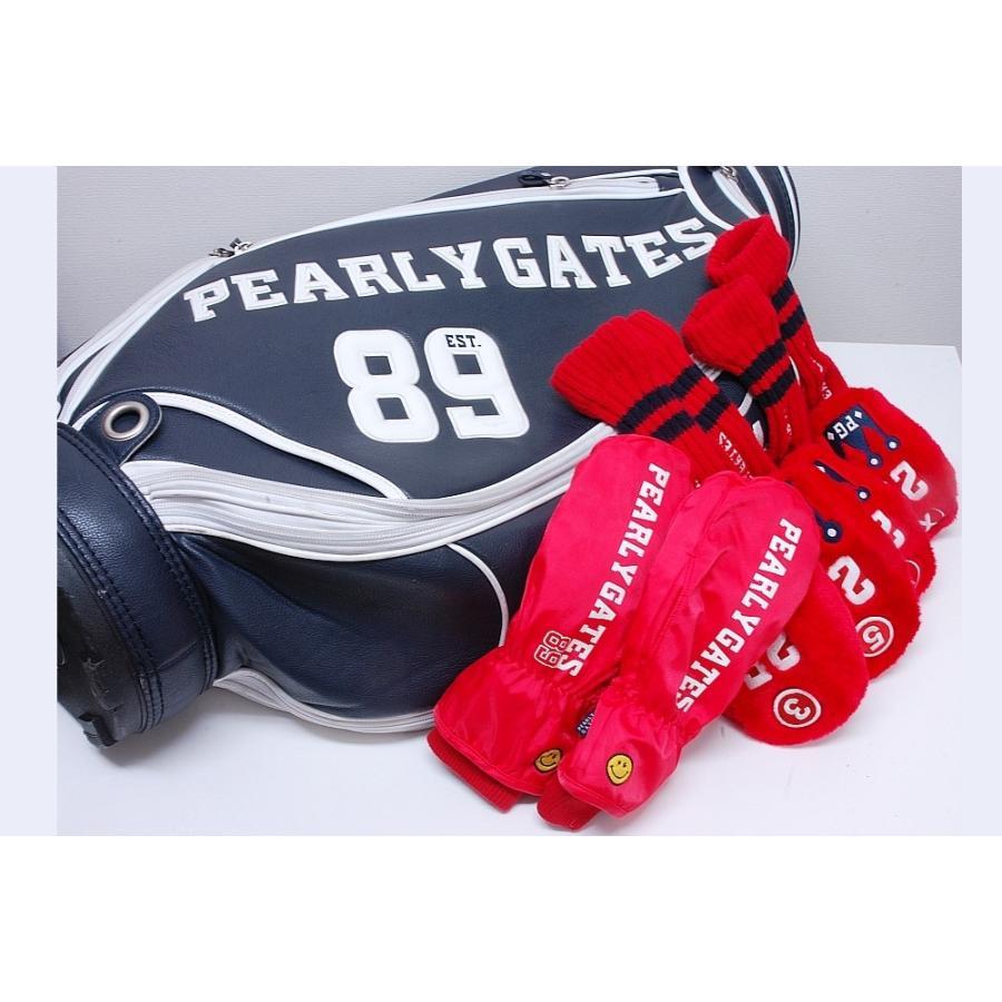 パーリーゲイツ キャディバッグ 25周年 ボアヘッドカバー ミトン(防寒手袋)【6点セット】