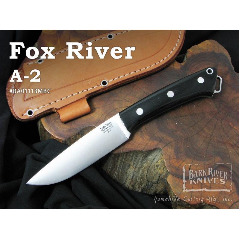 Bark River / バークリバーナイフ #BA01113MBC Fox River フォックスリバー/A2,ブラックキャンバスマイカルタ