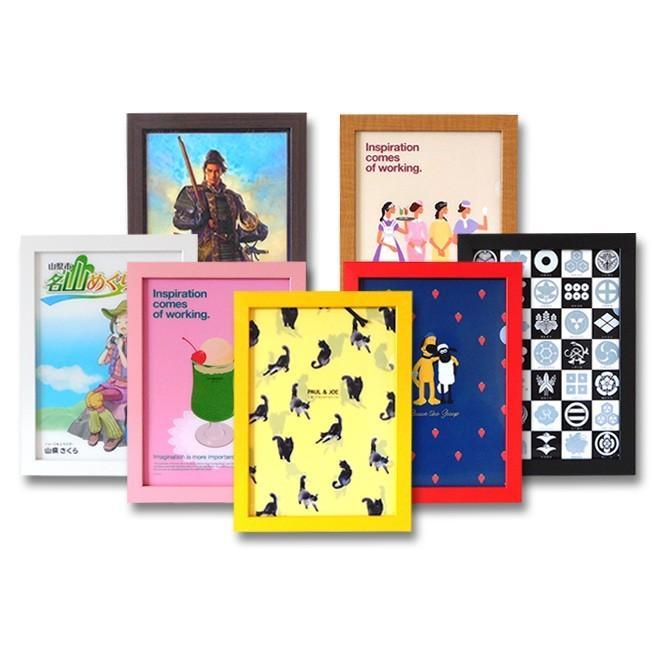 クリアファイルを飾る額縁 A4サイズ用 (対応クリアファイルサイズ220x310mm) UVカット ペット板仕様 木製フレーム 壁掛けフレーム|yamamoku-gifu|14