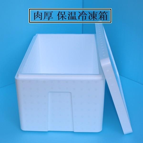 食品保温箱_発泡スチロール 箱 保温冷凍箱 3個 クーラーボックス 大 肉厚 34 ...