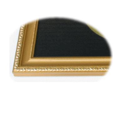 家紋プレート(金消し額入り)【三つ割り剣花菱崩し】金色額入りので人気の商品です。|yamato-design|03
