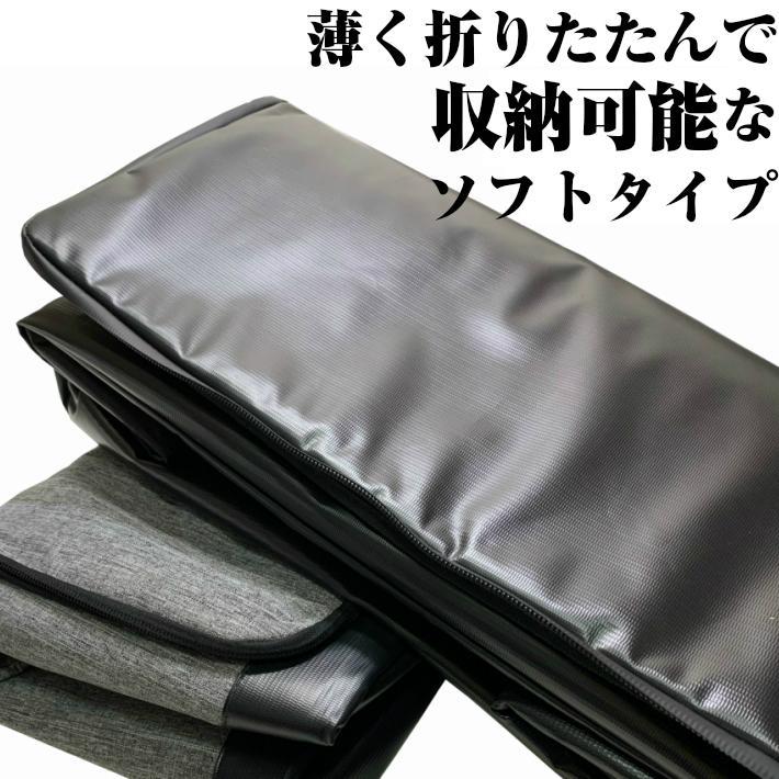 albatre アルバートル 防水 防汚素材使用 マルチギアコンテナ 約48L Mサイズ ソフトタイプ JETBLACK アウトドアバッグ キャンプバッグ AL-OB101T yamatoasobu 09