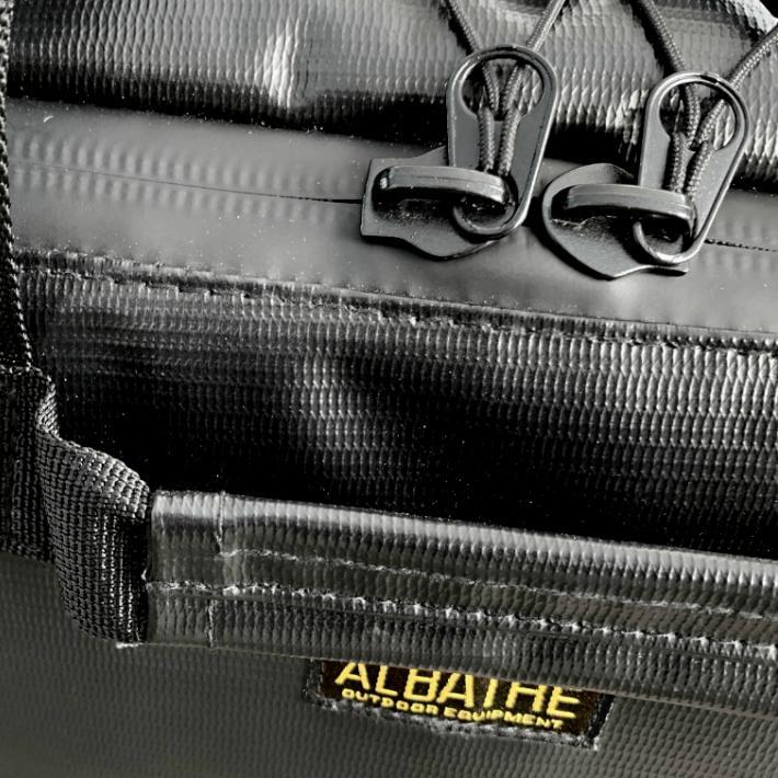 albatre アルバートル 防水 防汚素材使用 マルチギアコンテナ 約48L Mサイズ ソフトタイプ JETBLACK アウトドアバッグ キャンプバッグ AL-OB101T yamatoasobu 10