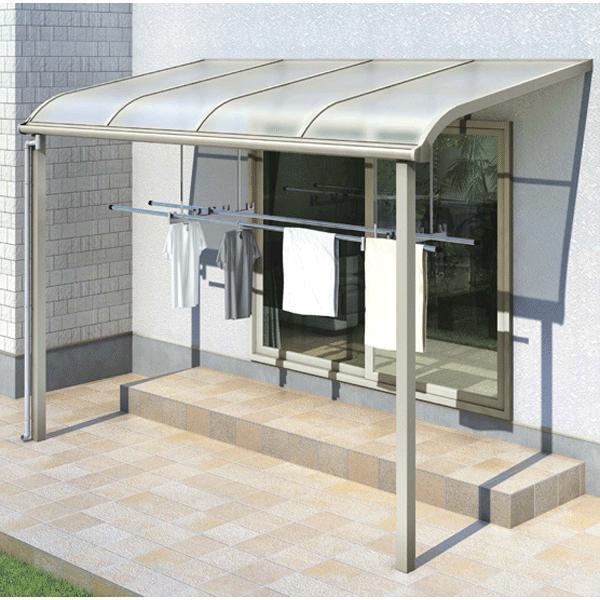 テラス屋根 ソラリア アール型·柱標準 関東間1.5間3尺 600N YKK AP アルミテラス