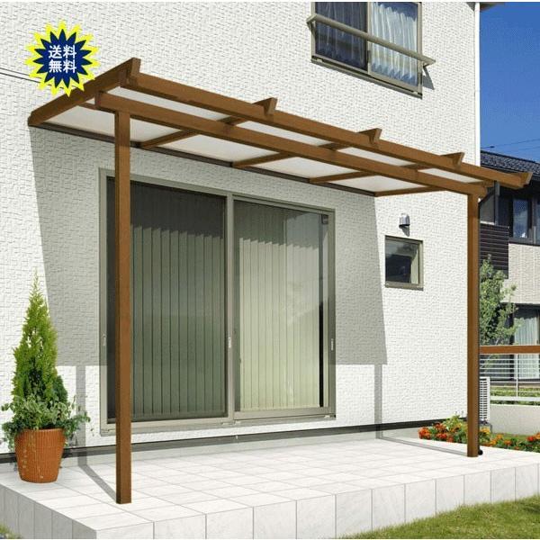 テラス屋根用 三協アルミテラス屋根 ナチュレN Nn型 テラスタイプ 壁付け納まり 間口1.0間×出幅6尺 600タイプ