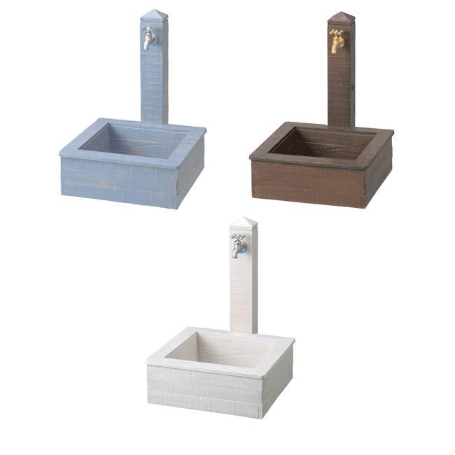 立水栓 モ・エット ユニット 水栓柱 水受け 蛇口 1口 パン付き1セット (蛇口 別売)ガーデンシンク