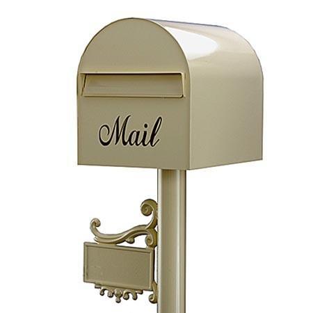 郵便ポスト レターボックスマン アメリカンポスト 3105 (NPポールネームプレート台座付) プリムローズ