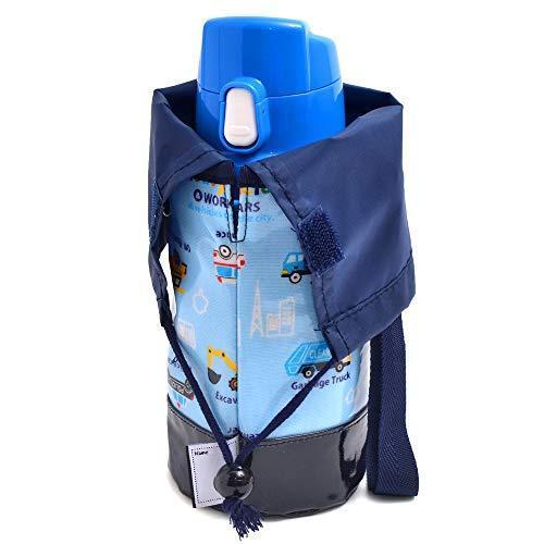 水筒カバー 小 ショルダー アクセル全開はたらく車(ライトブルー) N7305400 yamatoko 02