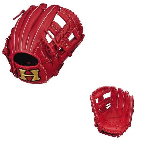 少年野球  HI-ゴールドハイゴールド少年軟式グローブ ルーキーズシリーズ RKG-1829 レッド