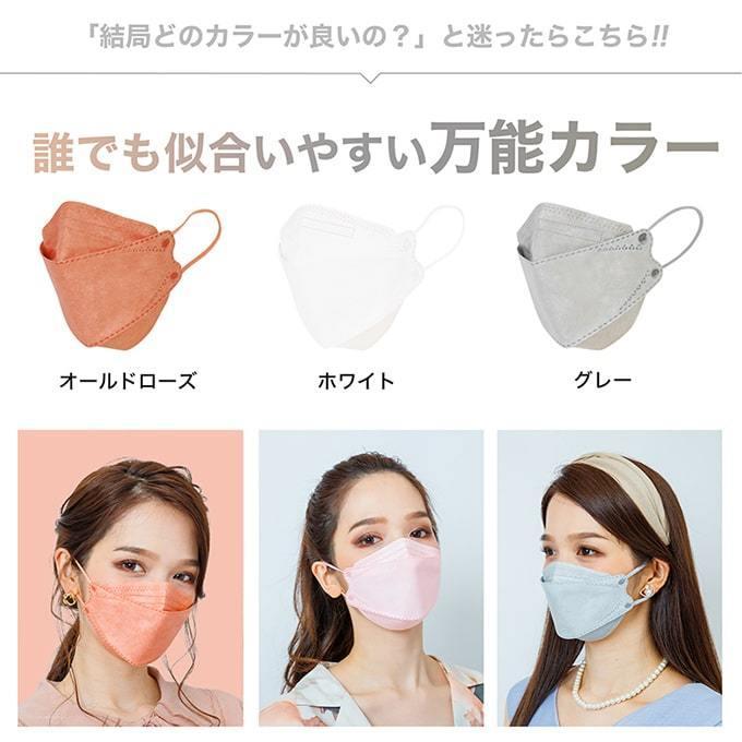 マスク KF94 不織布マスク 30枚セット 使い捨てマスク 立体 小顔 衛生マスク 3D立体 カラーマスク 通気性 快適 花粉対策 大人用|yandk|13