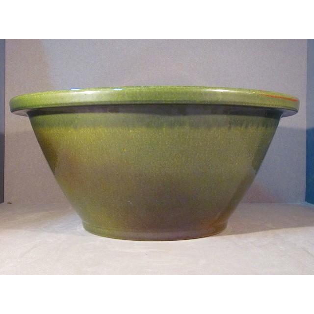 信楽焼き 水蓮鉢 17号 水抜穴ゴム栓付 植木鉢 水盤 花器 花瓶