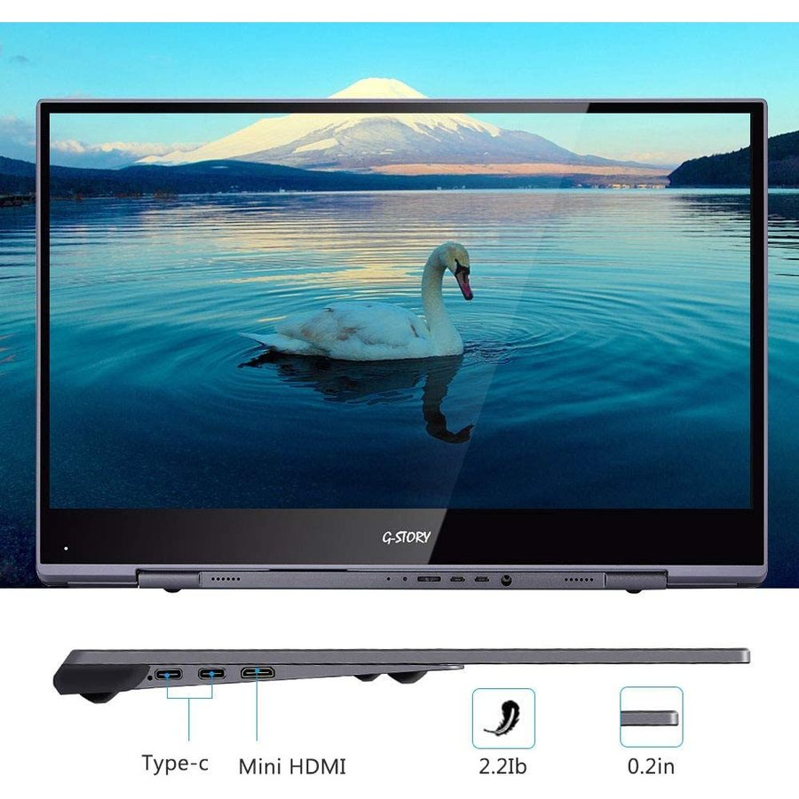 G-STORY 15.6 インチ 超薄型タッチモニター 4Kのタッチパネル 3840*2160 PS4/ノードパソコン/Typc-C/HDM yanyan-shop 04