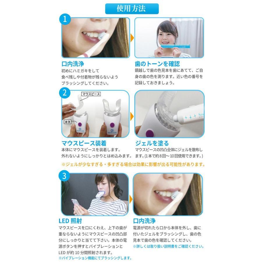 ホワイトニング 自宅 歯 セルフ スマイルブライター WHITE CLUB ホームホワイトニング ジェルセット ( ヤニ取り ホワイトニングキット 歯磨き 即日発送 )|yasashisa|06