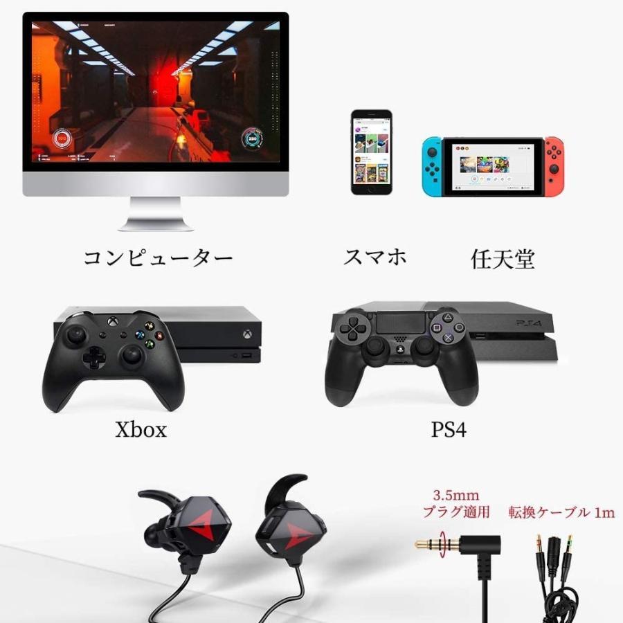 ゲーミングイヤホン マイク付き ヘッドセット PS4 スイッチ ボイスチャット スカイプ Zoom iPhone PC yasunoworks 13