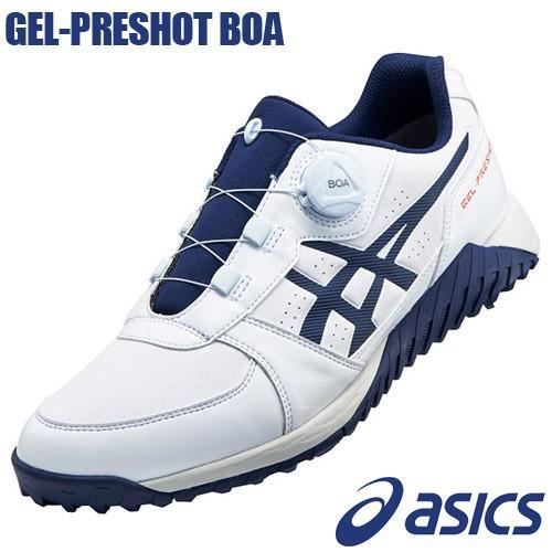 asics [アシックス] GEL-PRESHOT BOA [ゲルプレショット ボア] 1113A003 メンズ ゴルフシューズ ホワイト/ピーコート