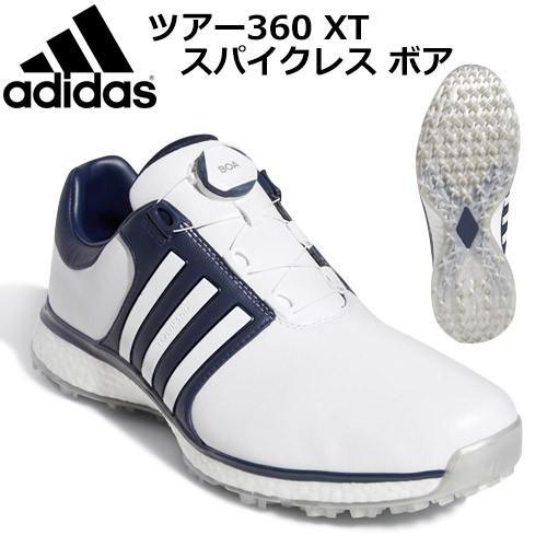 【未使用品】 adidas [アディダス] ツアー360 XT スパイクレス ボア DBB80 メンズ ゴルフシューズ F34189, 添上郡 ec2ce806