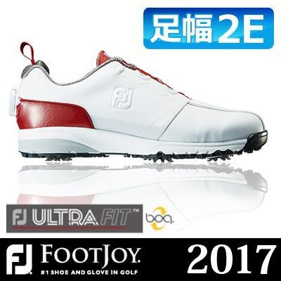 FOOTJOY [フットジョイ] FJ ULTRA FIT Boa メンズ ゴルフシューズ 54143 ホワイト/レッド