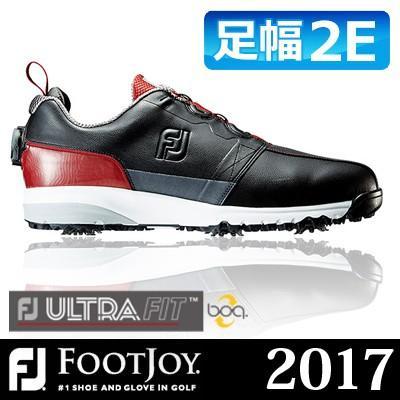FOOTJOY [フットジョイ] FJ ULTRA FIT Boa メンズ ゴルフシューズ 54146 ブラック/レッド