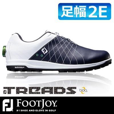 有名なブランド FOOTJOY [フットジョイ] FJ TREAD Boa メンズ ゴルフシューズ 56206 ホワイト/ネイビー, SPIRAL SCRATCH 95b4c17f