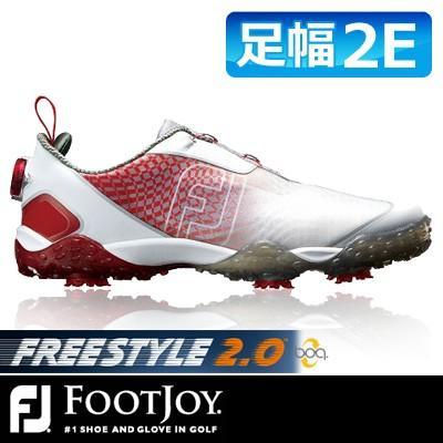 FOOTJOY [フットジョイ] FJ FREESTYLE 2.0 Boa [フリースタイル 2.0 ボア] メンズ ゴルフシューズ 57351 レッド/ホワイト