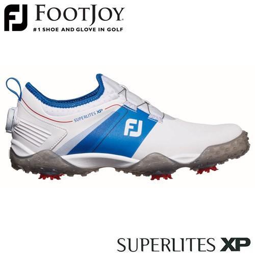 FOOTJOY [フットジョイ] SUPERLITES XP [スーパーライト] 2019 メンズ ゴルフシューズ 58068 ホワイト/ブルー 【W/足幅2E】