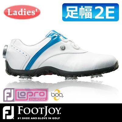 FOOTJOY [フットジョイ] LoPro SPORTS SPIKE Boa レディース ゴルフシューズ 97170 ホワイト/ブルー