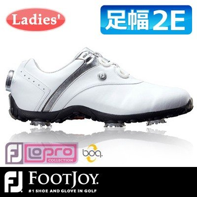FOOTJOY [フットジョイ] LoPro SPORTS SPIKE Boa レディース ゴルフシューズ 97180 ホワイト/シルバー