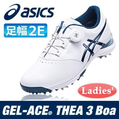 asics [アシックス] GEL-ACE THEA 3 Boa レディース ゴルフ シューズ TGN917 ホワイト/ネイビー