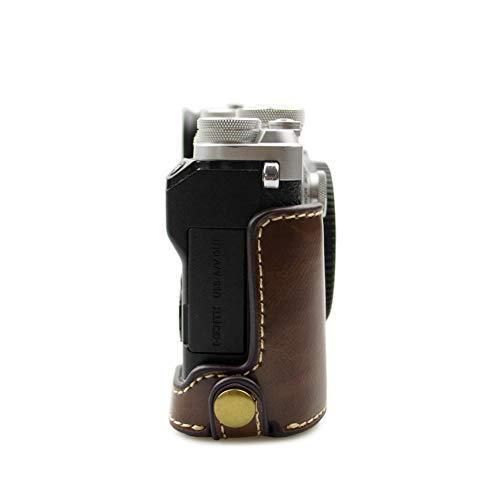 kinokoo OLYMPUS PEN-F専用 ボディケース カメラケース バッテリーの交換でき 三脚ネジ穴 標識クロス付き(コーヒー)|ybd|02