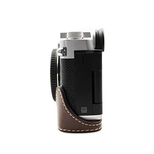 kinokoo OLYMPUS PEN-F専用 ボディケース カメラケース バッテリーの交換でき 三脚ネジ穴 標識クロス付き(コーヒー)|ybd|03