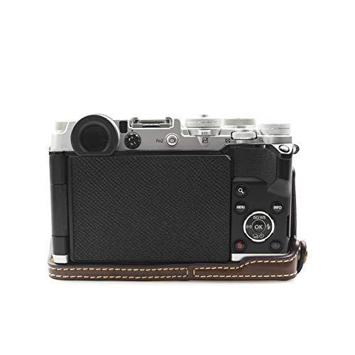 kinokoo OLYMPUS PEN-F専用 ボディケース カメラケース バッテリーの交換でき 三脚ネジ穴 標識クロス付き(コーヒー)|ybd|04