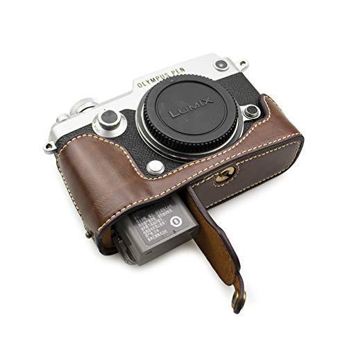 kinokoo OLYMPUS PEN-F専用 ボディケース カメラケース バッテリーの交換でき 三脚ネジ穴 標識クロス付き(コーヒー)|ybd|07