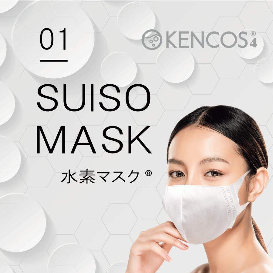 ケンコス 水素マスク 30枚 日本製 ヒアルロン酸配合 花粉 BFE VFE 99% 肌に優しい使い捨てマスク KENCOS アクアバンク 送料無料|yentoyen|04