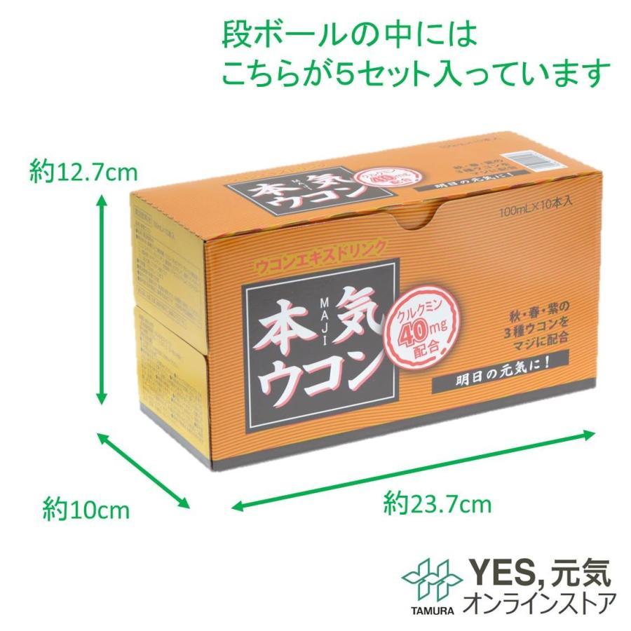本気ウコン 100mL 50本 清涼飲料水 送料無料 ウコンドリンク|yesgenki|05