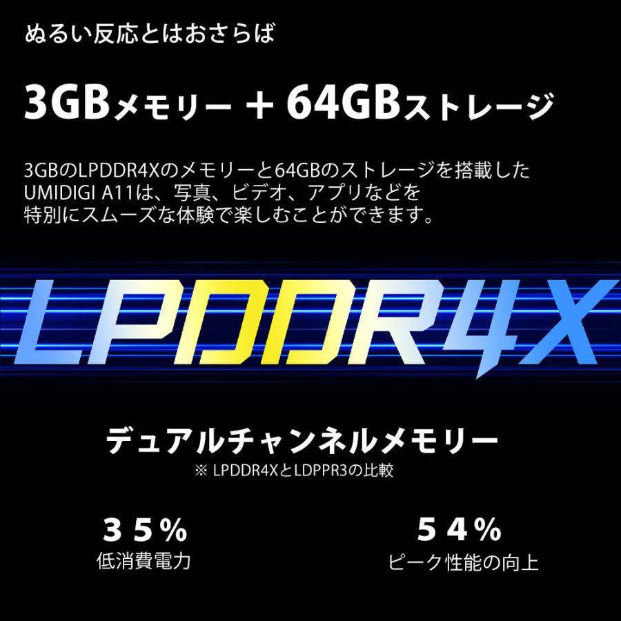 UMIDIGI A11 3GB+64GB  スマートフォン本体 SIMフリースマホ 新品 4眼カメラ Android 11 デュアルSIM(DSDV) 技適あり yesmobile 14