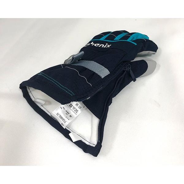 スキーグローブ キッズ フェニックス 雪遊び 手袋 セール ジュニア 防水 シンプル 90 100 110 120 130 ガールズ 女の子 phenix PS8H8GL75 レターパックも対応|yf-ing|04