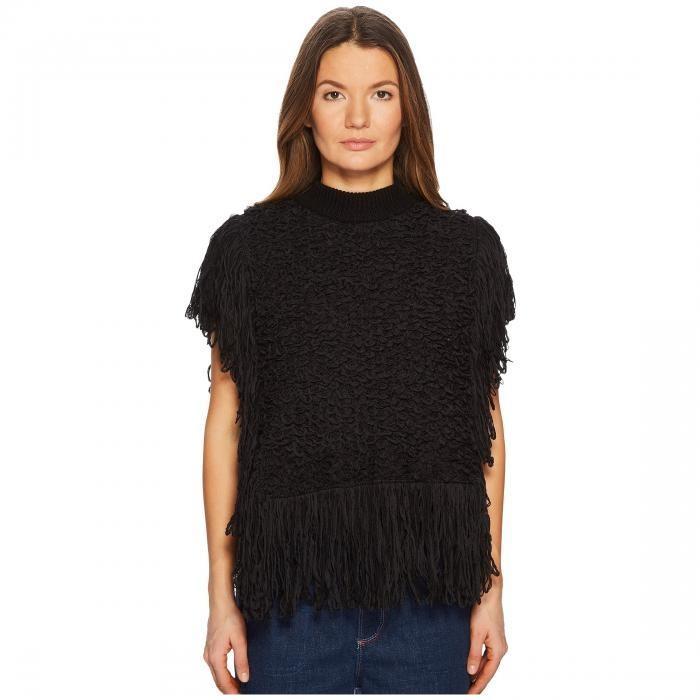 カジュアル/ファッション Tシャツ レディース 女性用 トップス 長袖 SONIA RYKIEL MINI ポンチョ W/ COTTON FUR