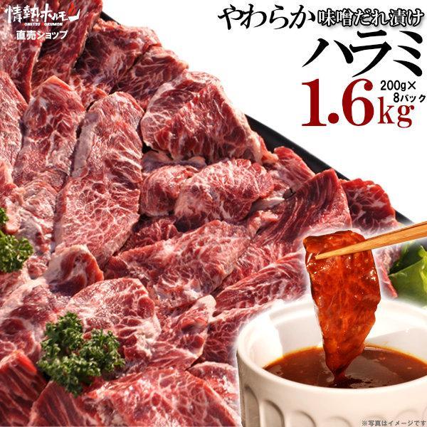 焼き肉 焼肉 セット 肉 やわらか ハラミ 味噌だれ漬け 超メガ盛セット バーベキューセット 牛肉 即納最大半額 食品 1.6kg ハイクオリティ BBQ