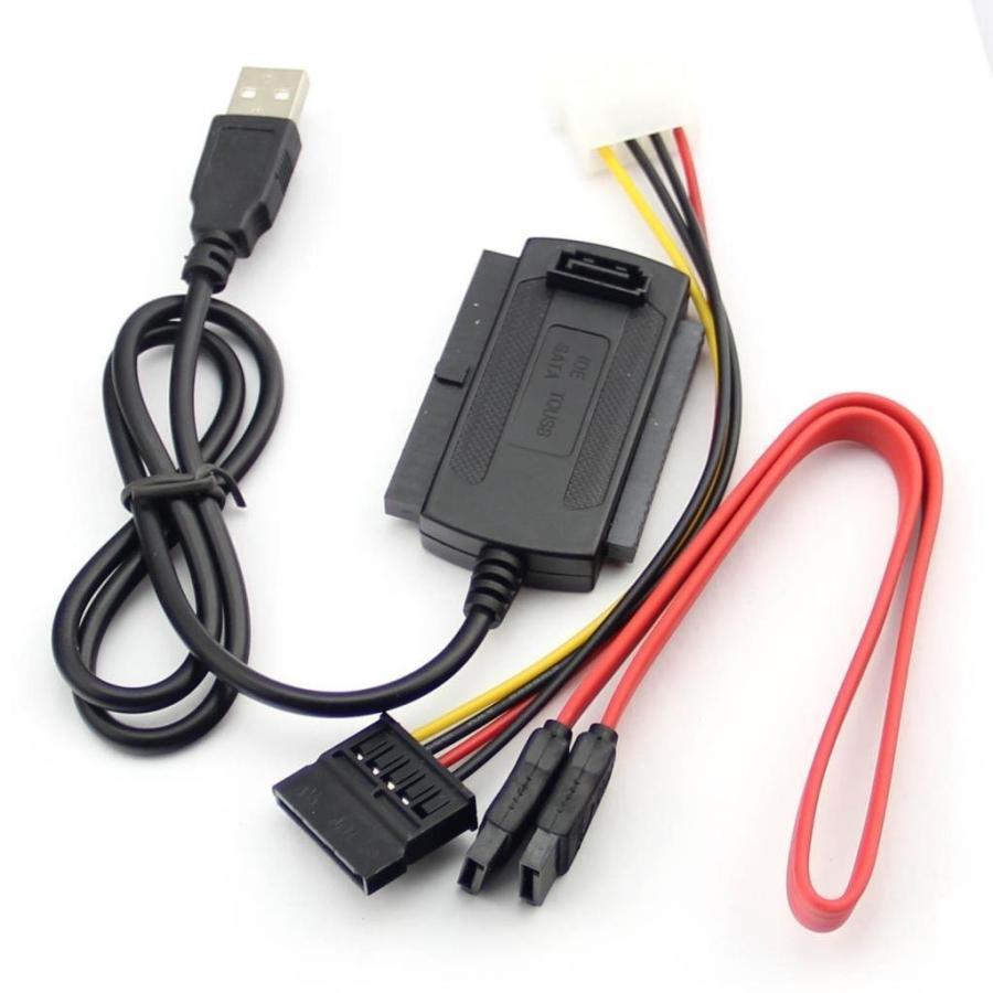 送料無料 変換アダプター 変換ケーブル 2020新作 コンバーター ケーブル 引出物 ハード ドライブ HDD 2.5 3.5 SATA USB2.0−IDE HD 3-in-1